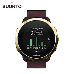 SUUNTO 3 Fitness 保持健康與活力生活的體適能運動腕錶 (勃根地酒紅)