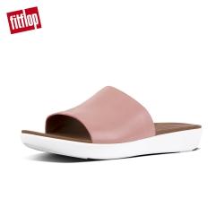 FitFlop SOLA LEATHER SLIDES 一片式簡約涼鞋-女(灰粉)