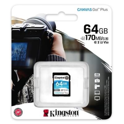 金士頓 KINGSTON SDG3 SDXC 170MB 64G U3 V30 A2 記憶卡
