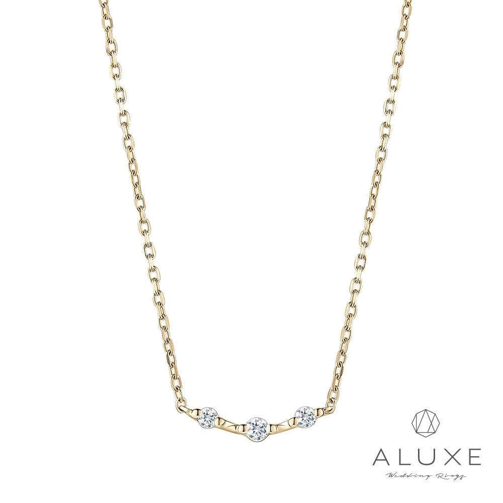 ALUXE 亞立詩 Shine系列10K 0.06克拉鑽石項鍊