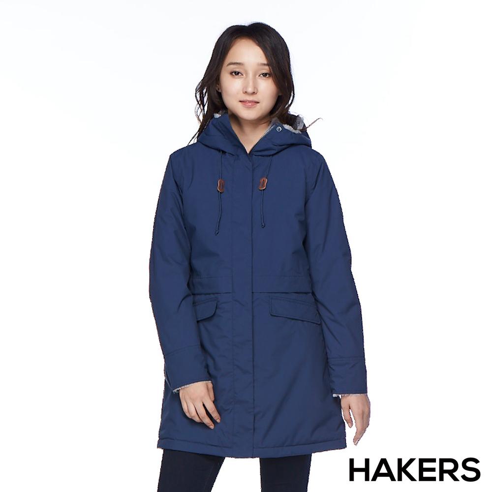 【HAKERS 哈克士】女款 保暖休旅外套(深藍)