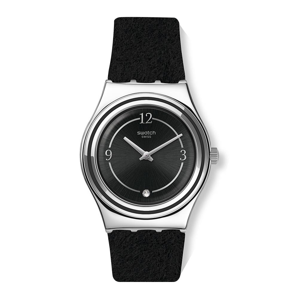 Swatch Core Refresh系列手錶 MADAME NIGHT 無畏黑-33mm