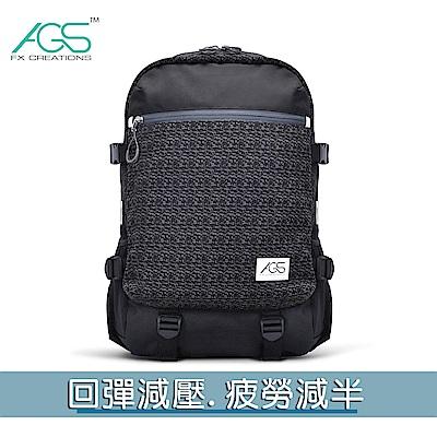FCB 15.6吋AGS回彈減壓電腦後背包-黑  FCB69903A-01