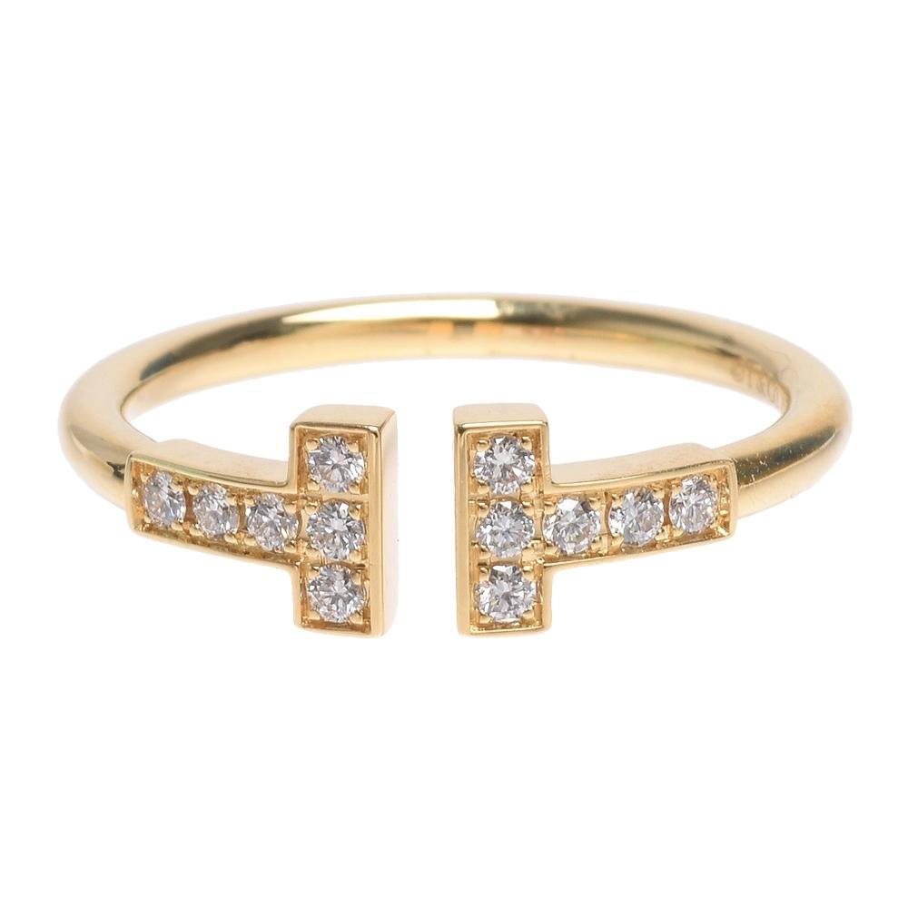 TIFFANY&Co. 經典T Wire系列18K金鑽石戒指
