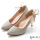 DIANA 6.5cm 法式鑽石紋水鑽蝴蝶結夾飾婚鞋-璀璨閃耀-香繽粉 product thumbnail 1