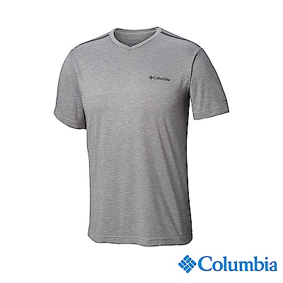 Columbia哥倫比亞 男款-UPF50快排短袖上衣-灰色 UAE06520GY