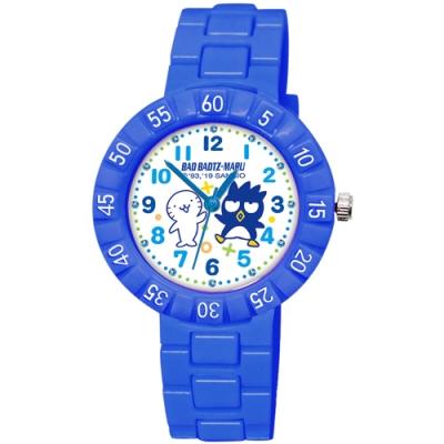 Sanrio三麗鷗 數字轉圈系列手錶酷企鵝34mm藍色