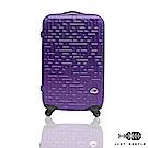 Just Beetle 迷宮系列經典24吋輕硬殼旅行箱行李箱-葡萄紫