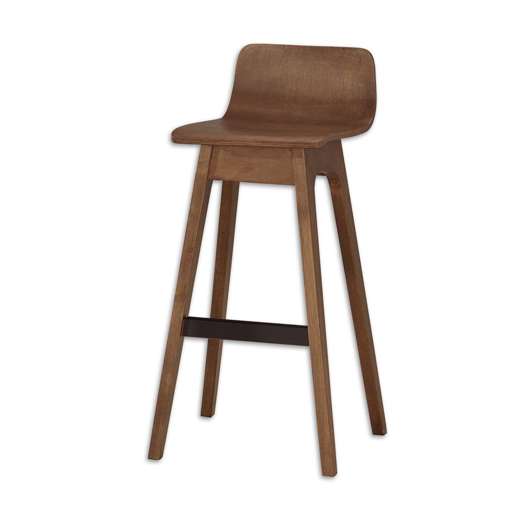Bernice-華德實木吧台椅/高腳椅(雙色可選)-二入-46x46x89cm