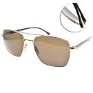 HUGO BOSS 太陽眼鏡  時尚多邊雙槓款/金棕-棕 #HB1045S 00070