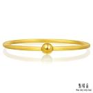 點睛品 時尚噴砂黃金手環/手鐲_計價黃金