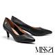 高跟鞋 MISS 21 極簡時尚真皮尖頭高跟鞋-黑 product thumbnail 1