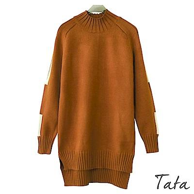長版前短後長針織上衣 共二色 TATA