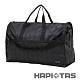 【HAPI+TAS】女孩小物折疊旅行袋(大)-黑色格紋