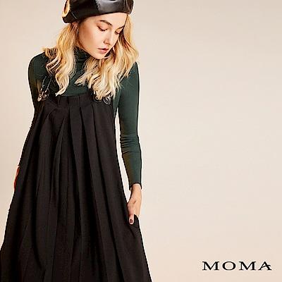 限時商品 | MOMA 簡約打褶吊帶洋裝