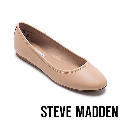 STEVE MADDEN-BITSY素色圓頭平底鞋-粉色