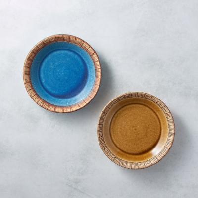 有種創意 日本美濃燒 - 細雕紋小盤 - 雙件組 16.5cm