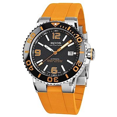 epos 愛寶時 Sportive Diver 500米防水陶瓷錶圈自動排氦機械錶