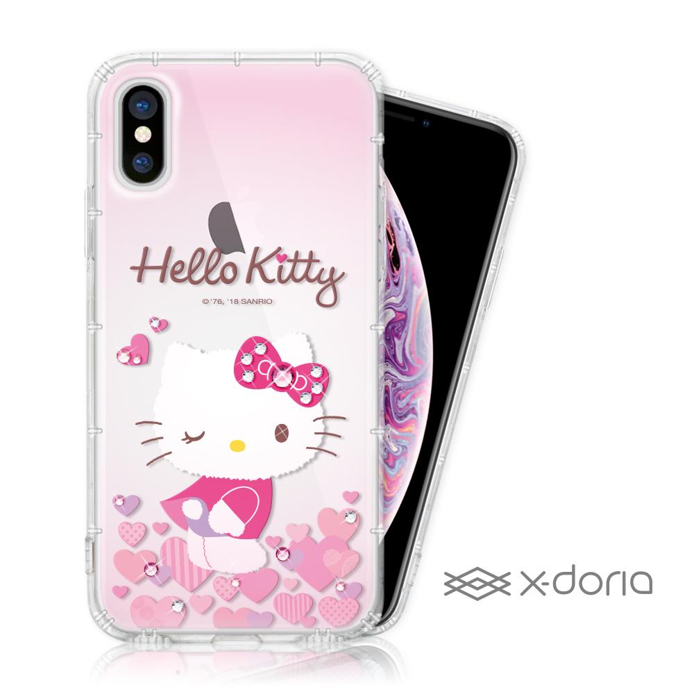 Hello Kitty iPhone Xs Max 彩繪水鑽手機空壓殼 - 心愛 @ Y!購物
