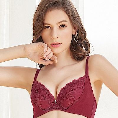 EASY SHOP-珍藏開運 美背款B-D罩成套內衣(魅力紅)