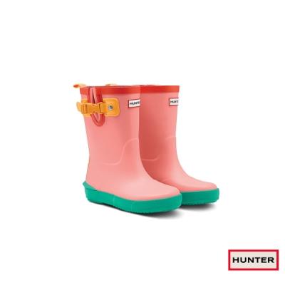 HUNTER - 童鞋 - 小童經典多色拼接霧面短靴 - 粉