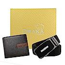 DRAKA 達卡 - 黃金禮盒 真皮皮夾+自動皮帶-7307