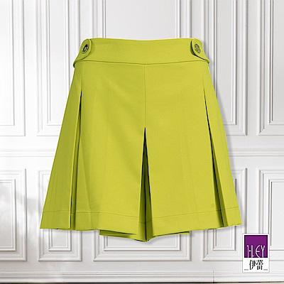 ILEY伊蕾 打褶造型緹花短褲(綠)