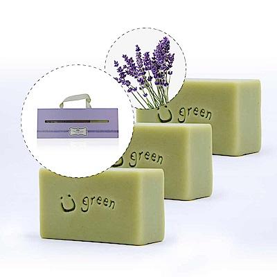 綠優園-天然植萃手工皂潤膚皂-海茴香薰衣草三入盒裝