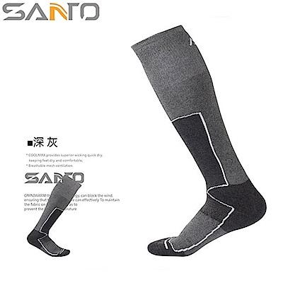 Santo杜邦COOLMAX運動襪登山襪(全厚款,超長筒)S023 S024