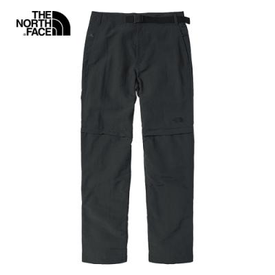 The North Face北面男款灰色吸濕排汗防潑水戶外徒步褲|4UAO0C5