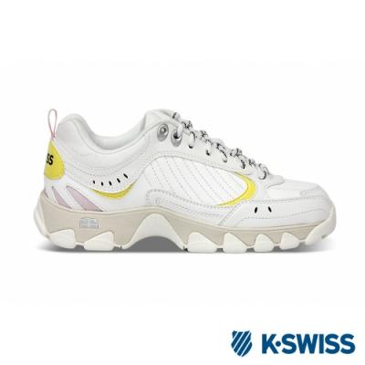 K-SWISS HS329復古老爹鞋-男女-白/黃/粉紅