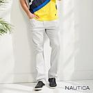 Nautica經典彈性合身直筒褲-灰色