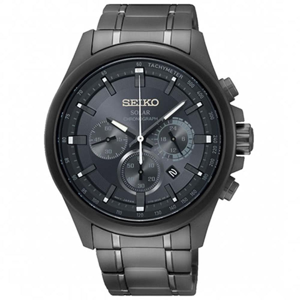 SEIKO精工Criteria太陽能計時腕錶-礦石SSC693P1/V175-0ER0K