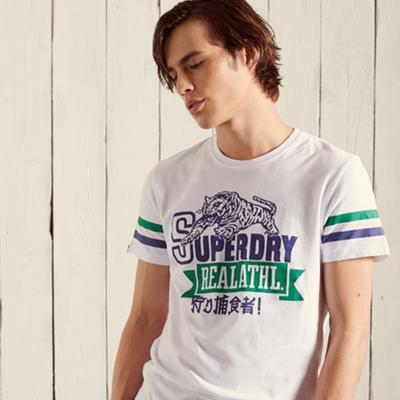 SUPERDRY 男裝 短袖T恤 BONDED VARSITY 白