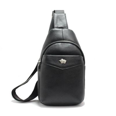 DRAKA達卡 - 路易XIV系列- 牛皮單肩斜背胸包-紳士黑