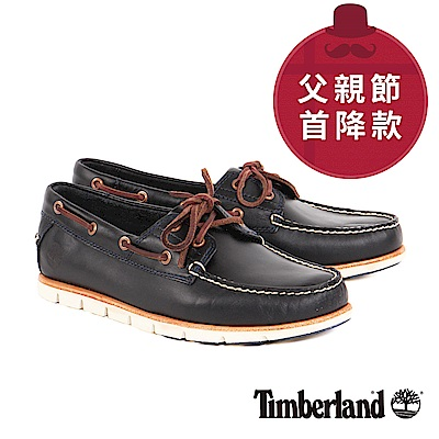 Timberland 男款海軍藍雙孔方頭休閒鞋
