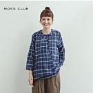 【MOSS CLUB】MIT製 不規則排扣格紋-襯衫(二色)