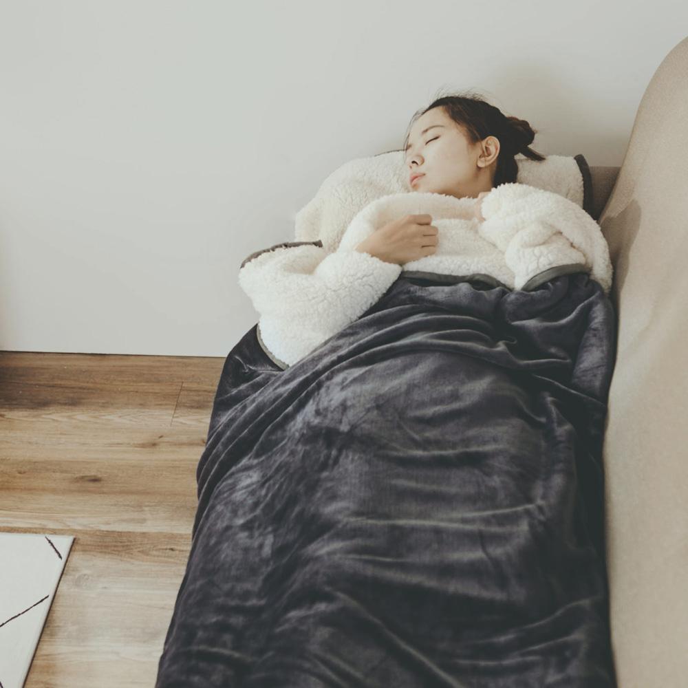 絲薇諾 銀河灰 加厚版法蘭羊羔絨睡袋毯(1.64kg)