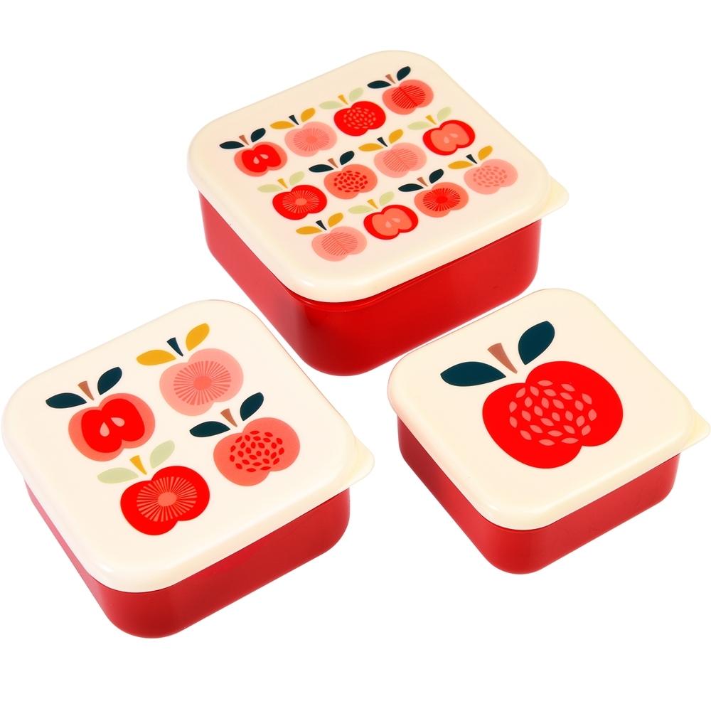 《Rex LONDON》保鮮盒3件(小蘋果)