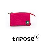 tripose 漫遊系列岩紋簡約微旅萬用零錢包 桃紅