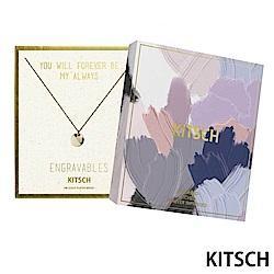 KITSCH 美國加州時尚品牌 圓面拋光14K鍍金墜飾項鍊