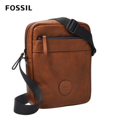 FOSSIL Sport 單肩真皮休閒斜背包-咖啡色 MBG9528210