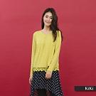 【KiKi】雙層蕾絲內裡長袖-上衣(二色/版型修身)