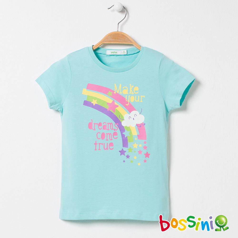 bossini女童-印花短袖T恤01粉藍