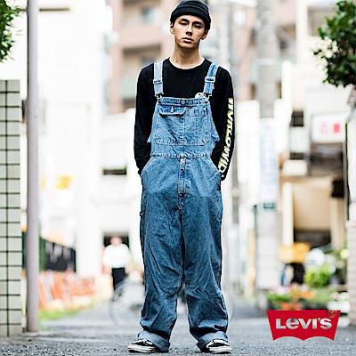 Levis 男款 吊帶工作褲 男款 復古藍 銀標Silver Tab系列