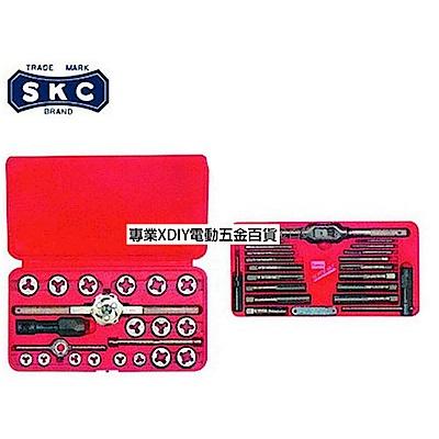 日本 SKC 850R 40件組 螺絲攻牙組+丸駒組合 M3~M12 公制牙+1/8管牙