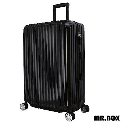 MR.BOX 艾夏 28吋PC+ABS耐撞TSA海關鎖拉鏈行李箱/旅行箱-黑色