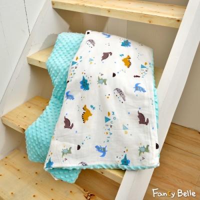 義大利Fancy Belle 遊戲恐龍 雙層紗防蹣抗菌吸濕排汗兒童兩用荳荳毯