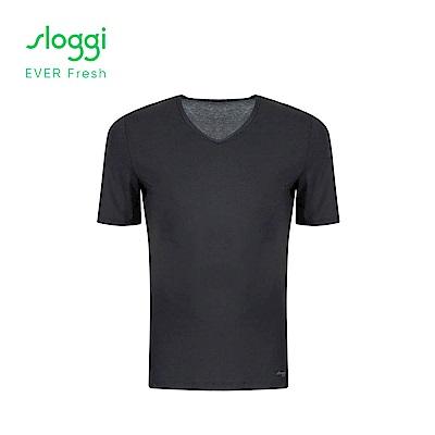 sloggi EVER Fresh系列 男士短袖內著上衣 經典黑