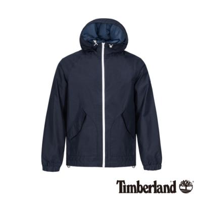 Timberland 男款深寶石藍戶外防風連帽外套|A1OLS